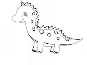 как нарисовать динозавра 18