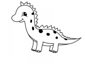 как нарисовать динозавра 19