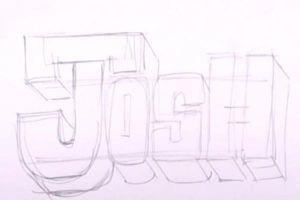 Как нарисовать граффити на бумаге 15