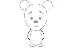 как нарисовать медведя 11