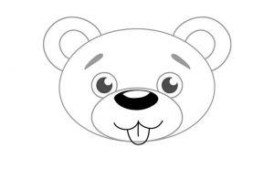 как нарисовать медведя 3