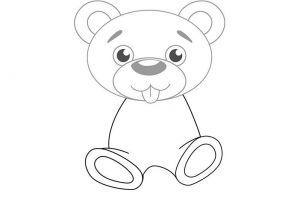 как нарисовать медведя 4
