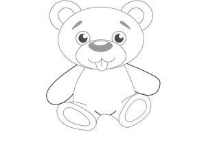 как нарисовать медведя 5