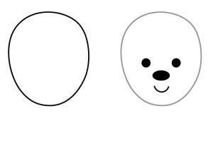 как нарисовать медведя 8