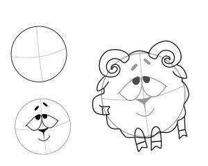 как нарисовать смешариков 9