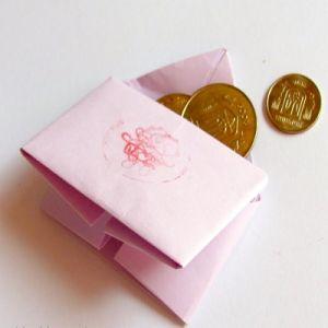 как сделать из бумаги кошелек12