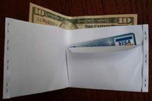 как сделать из бумаги кошелек2