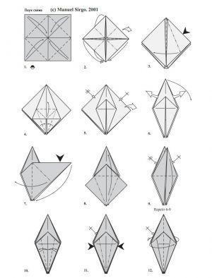 как сделать из бумаги паука 1