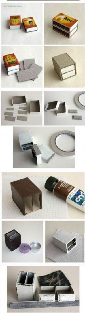 комод из спичечных коробков 1