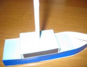 как сделать кораблик из картона 10