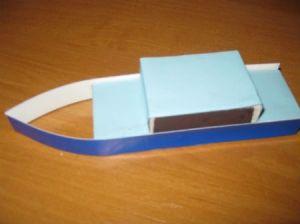как сделать кораблик из картона 6