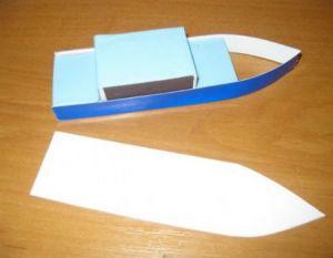 как сделать кораблик из картона 7