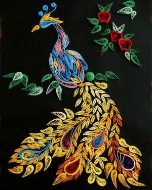 мозаика из цветной бумаги 1