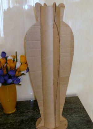 Напольная ваза своими руками 4