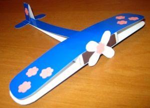 поделка самолет из картона 4
