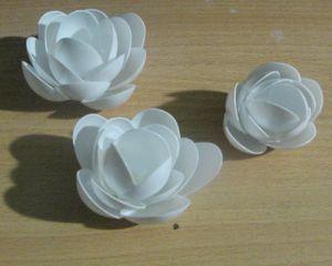 новогодние поделки из пластиковых ложек 5
