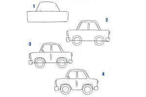 как нарисовать машину 1