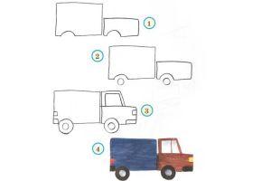 как нарисовать машину 2
