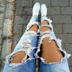 рваные джинсы своими руками8
