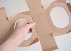 скворечник кормушка из картона 10