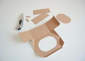 скворечник кормушка из картона 6