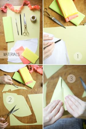 Как сделать колпак из бумаги13