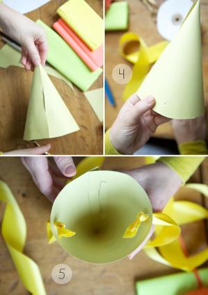 Как сделать колпак из бумаги14