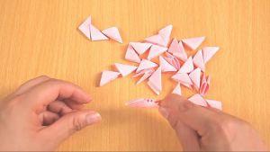 Как сделать лебедя из модулей15