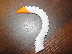 Как сделать лебедя из модулей33