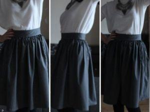 Как сшить юбку колокол8