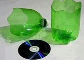 Кашпо из пластиковых бутылок2