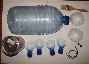 Кашпо из пластиковых бутылок32