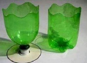 Кашпо из пластиковых бутылок6