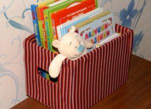 Коробки для хранения книг своими руками