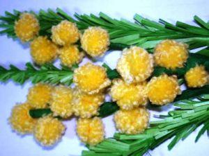мимоза цветок поделка12