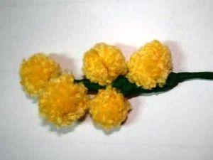 мимоза цветок поделка6