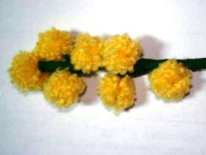 мимоза цветок поделка7