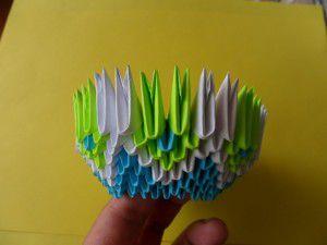 Модульное оригами - конфетница15