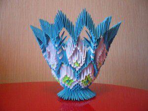 Модульное оригами - конфетница41