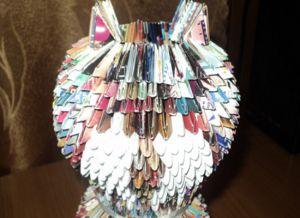 Модульное оригами - кошка18