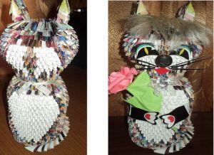 Модульное оригами - кошка20