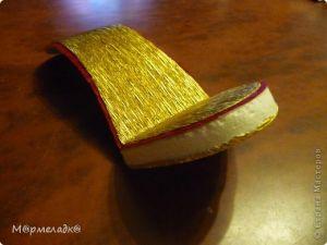 Туфелька из конфет - мастер-класс15