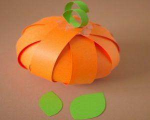 Тыква из бумаги на Хэллоуин14