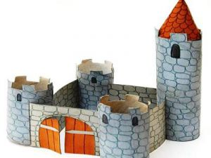 замок из бумаги для детей 9