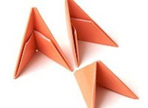 поделки из треугольных модулей фото 10