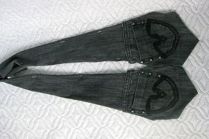 жилетка из старых джинсов11