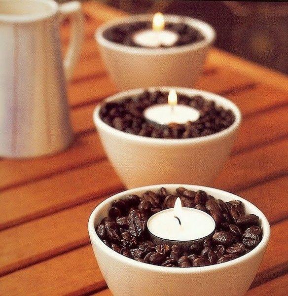 Свечка в пиалке с кофе