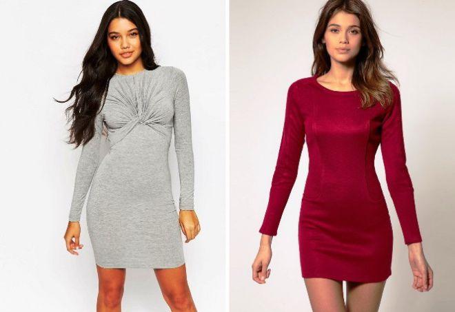 платье с длинным рукавом10