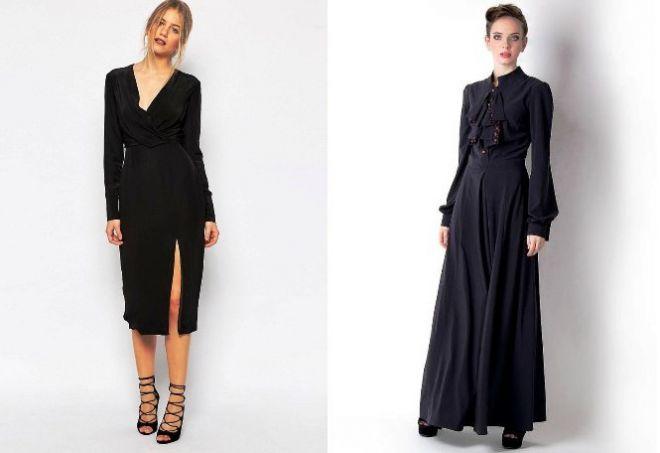платье с длинным рукавом2