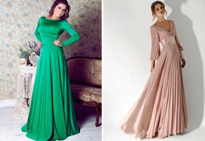 платье с длинным рукавом28